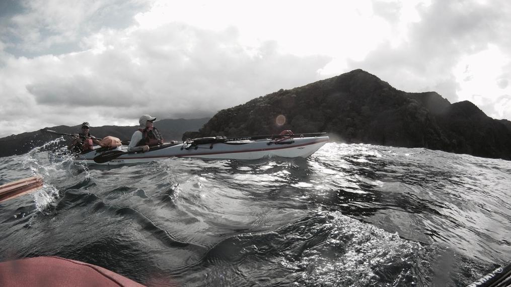 En kayak double sur la Côte Oubliée