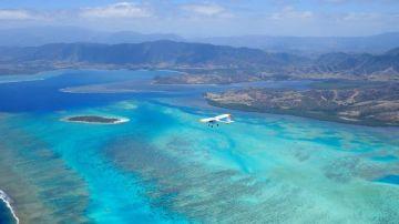 Le Lagon de Poé - vue du ciel (départ de Nouméa)