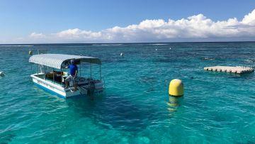 Excursion en bateau à fond de verre et randonnée palmée