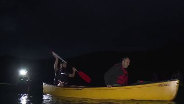 Canadian Canoe Moonlight Paddle - Blue River